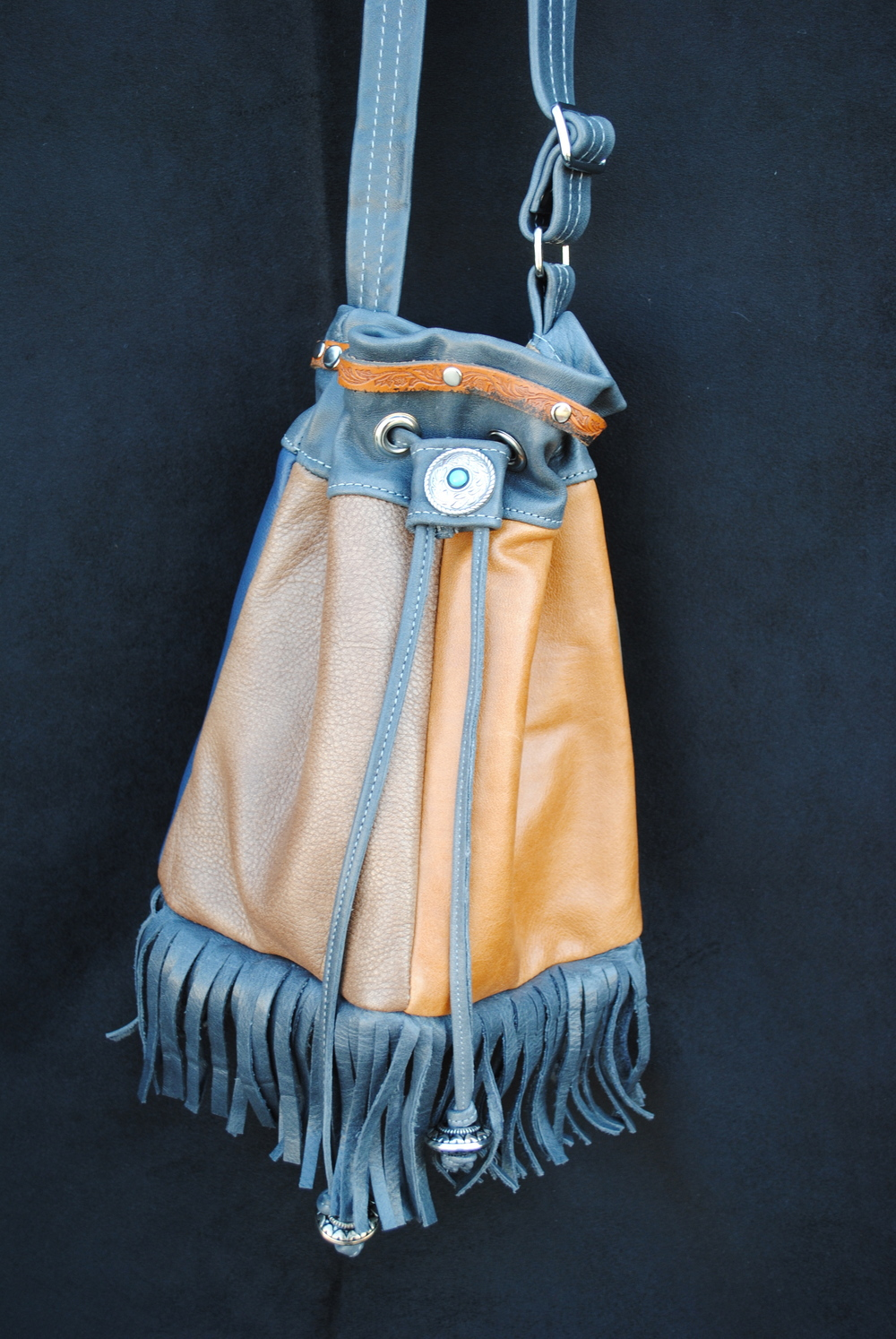 Fawn Fringed Drawstring Bag Discombobulated