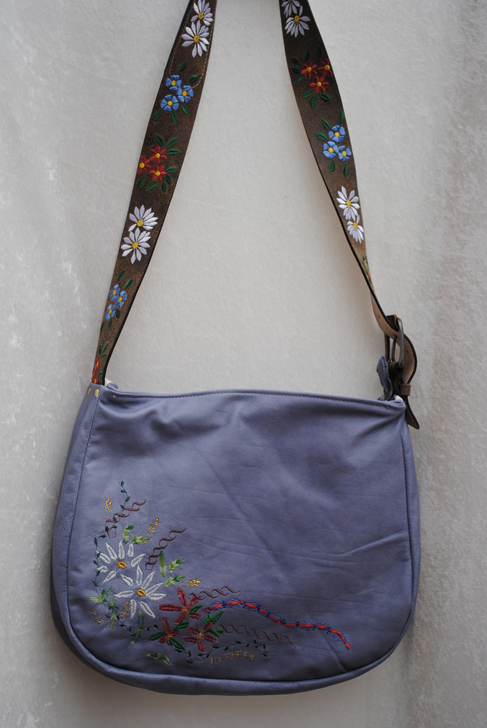 Heidi's Satchel Embroidered All Leather