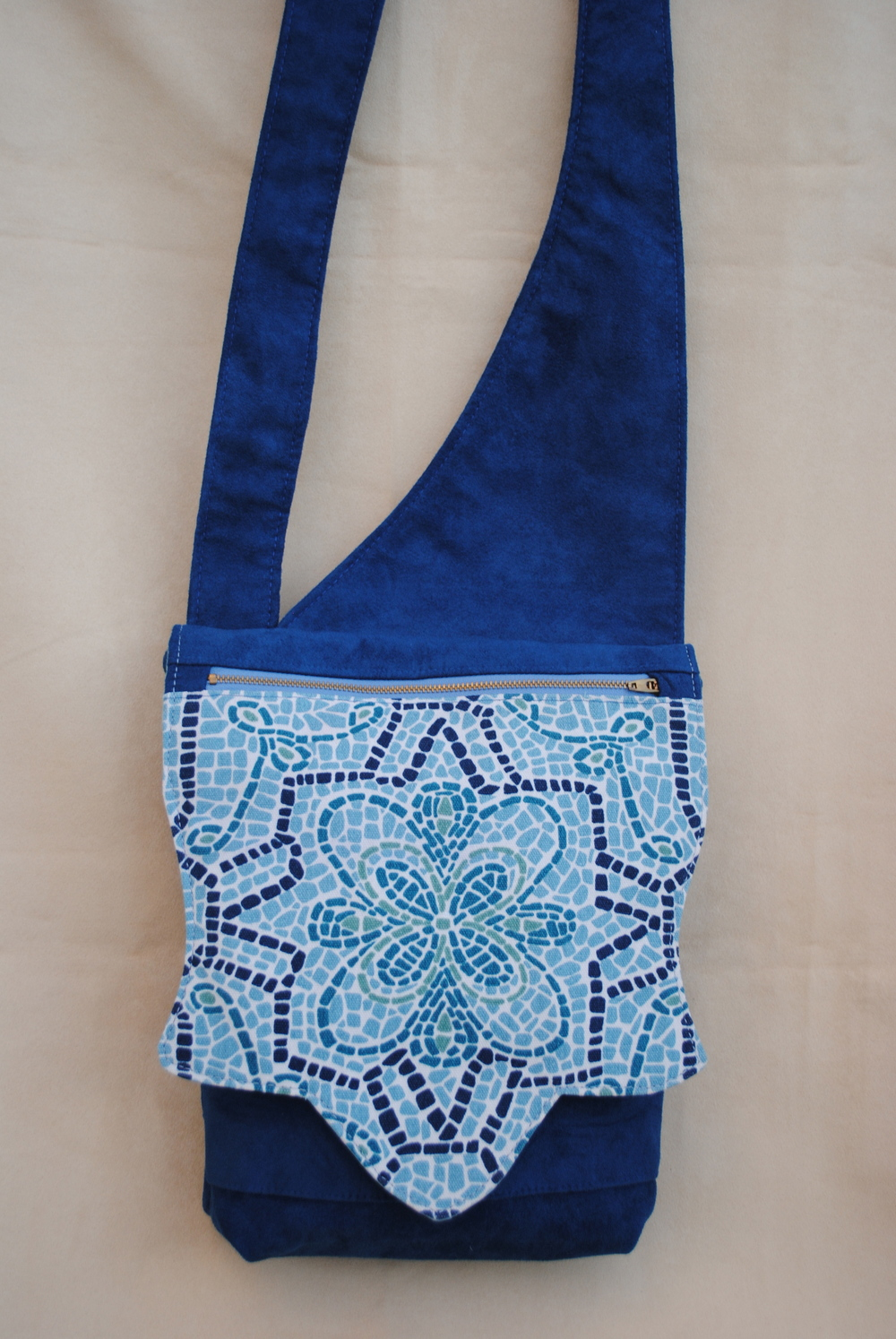Blue Mosaic Flap Messenger