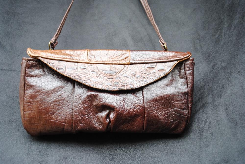 Crock Purse Genuine Leather