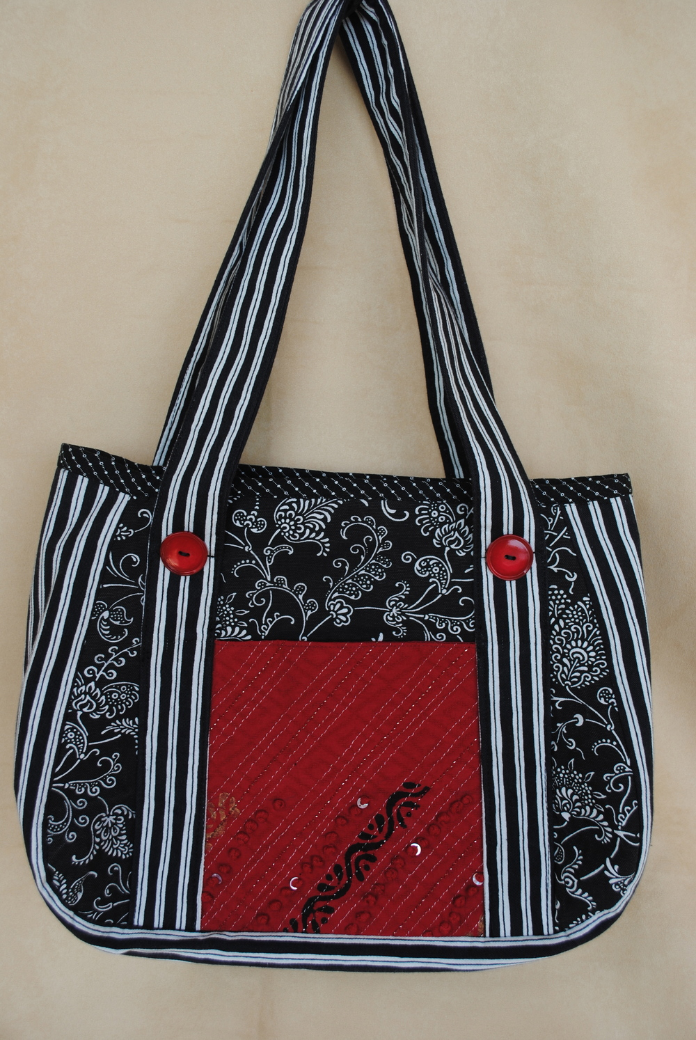 Red and Black Large Tote