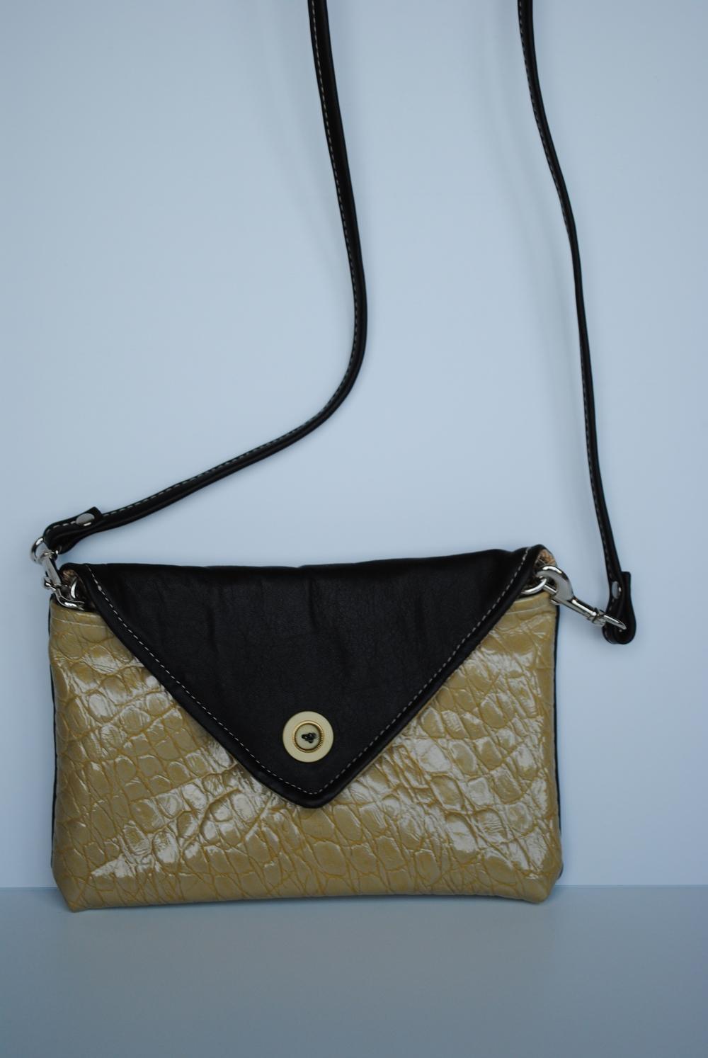 Zaitun All Leather Envelope Clutch Or Shoulder Bag