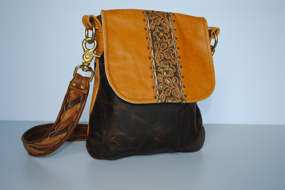 Sun Drenched All Leather Flap Cross Body