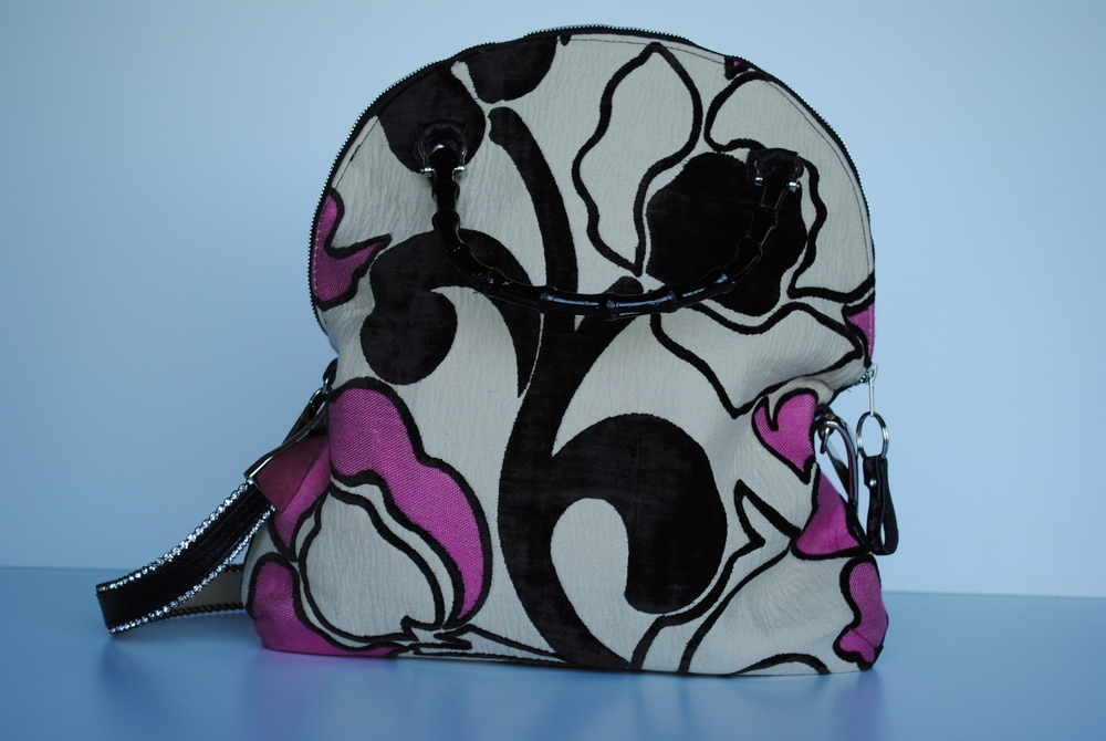 Pink and Black Purse