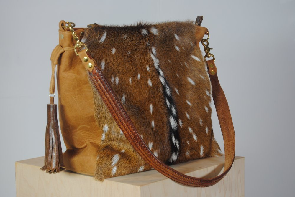 Axis Deer Skin Fur and Cowhide