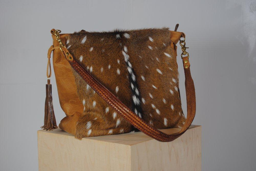 Axis Deer Skin with Fur and Cowhide