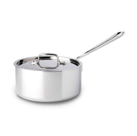 All-Clad Saucepot 4Q w/ lid Stainless Nonstick interior