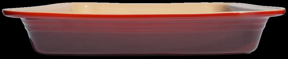 "Le Creuset Deep Rectangular Cherry 13.25""x10.5"""