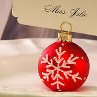 Snowflake Balls Place Card Holder