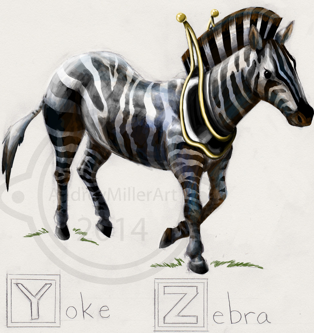 """Y is for Yolk / Z is for Zebra"" - ABC's of Horses"