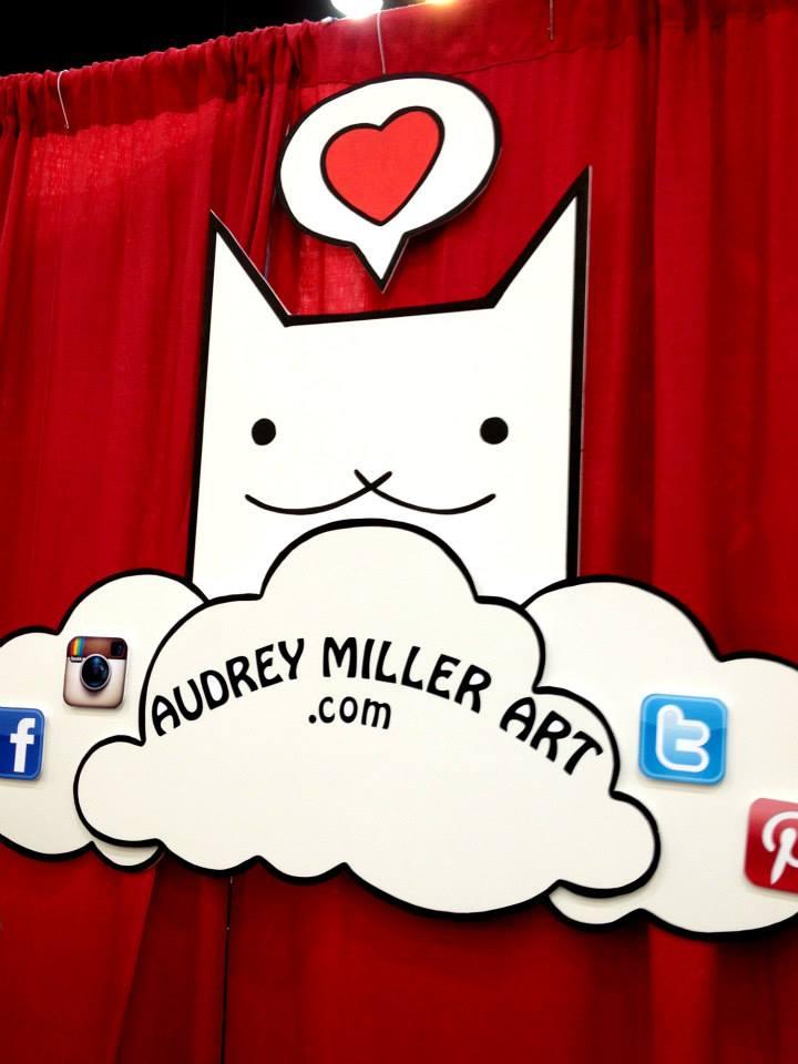 AudreyMillerArt handmade banner - DCon 2014