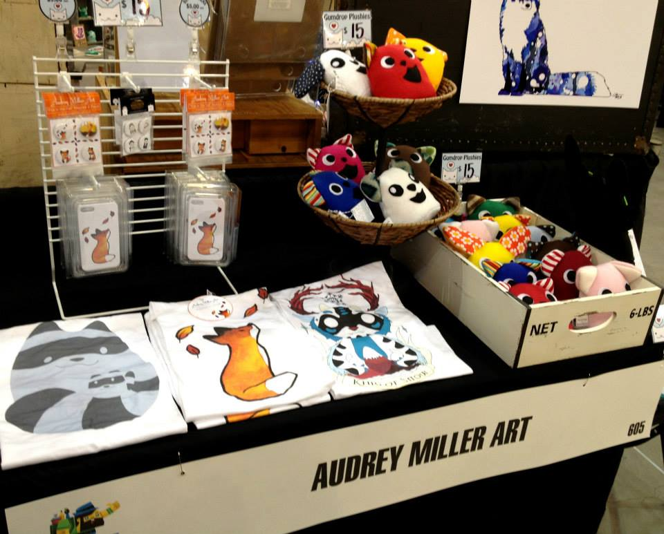 Art tees, phone cases, and plush toys - DCon 2014