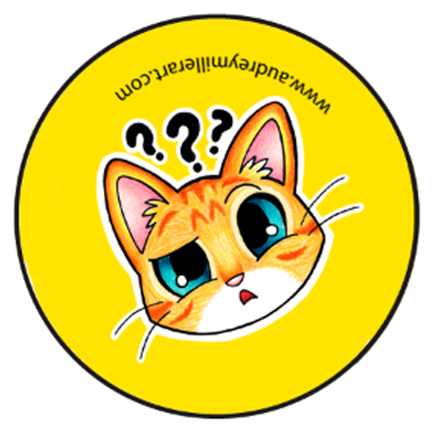 confused orange tabby kitty button.jpg
