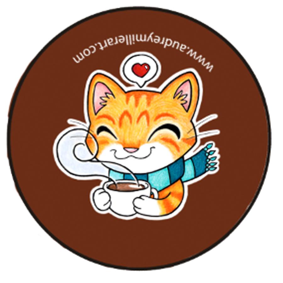 cozy tea coffee orange tabby kitty button.jpg