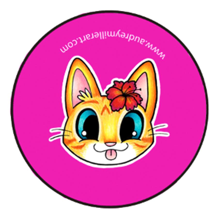 flower orange tabby kitty button.jpg