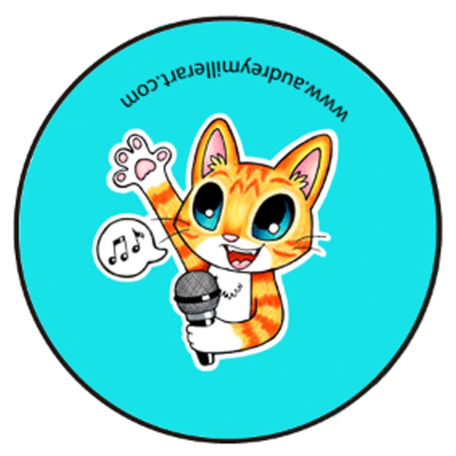 singing orange tabby kitty button.jpg
