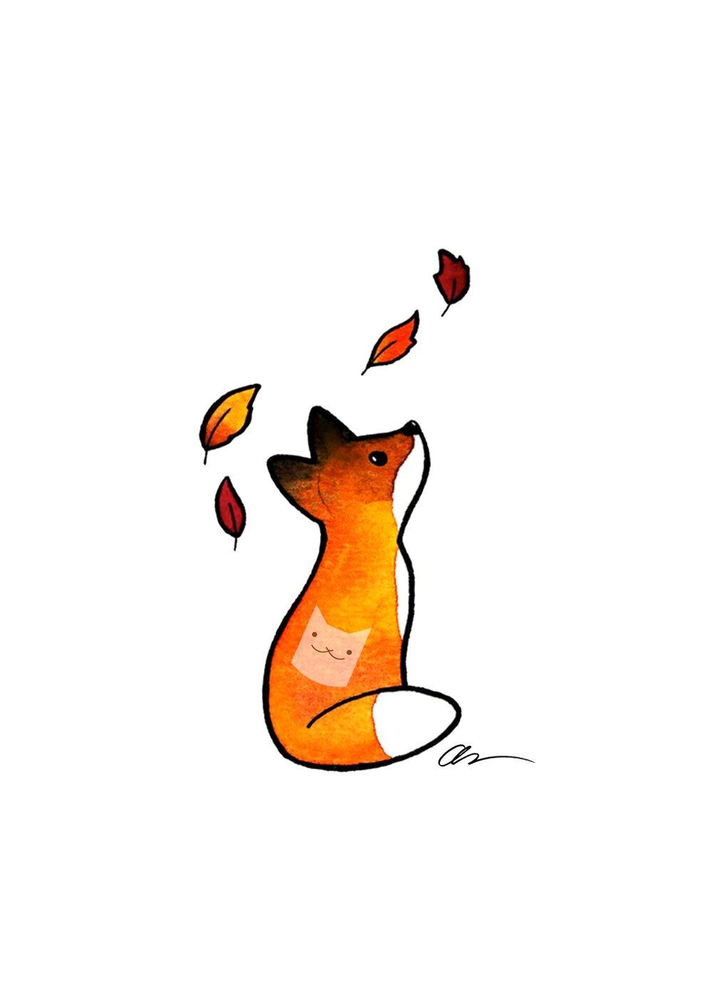 Fox in the Leaves.jpg