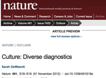Nov 1 2012 Culture: Diverse diagnostics