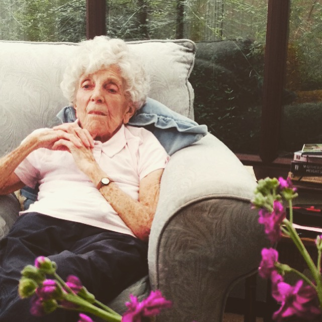 My Grandmother, Joan Coppen, born 1921. Picture taken July 2015.