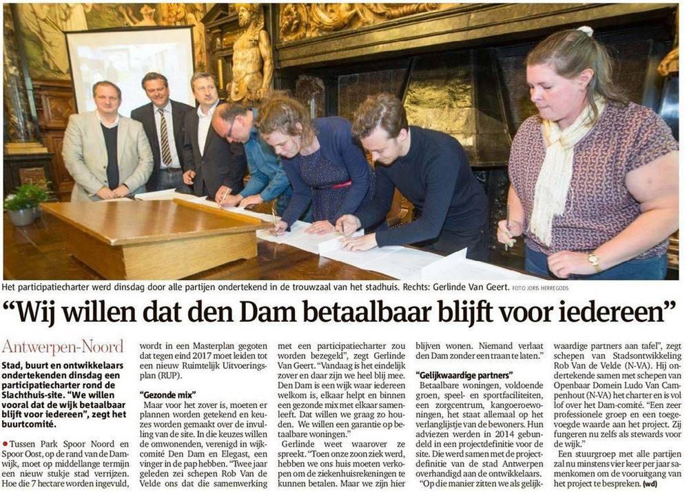 Gazet van Antwerpen 20.05.2015