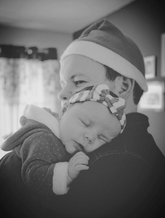 Dan with his daughter Sophia at Christmas