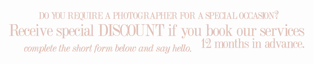 If you require a professional photographer for a special occasion - complete the short form below and say hello.