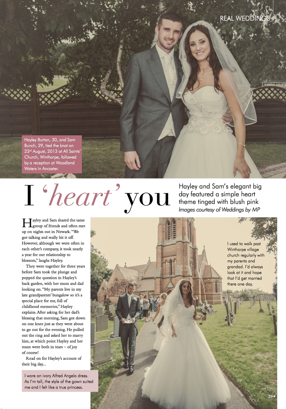 <screen grab> page one of five of the magazine feature.