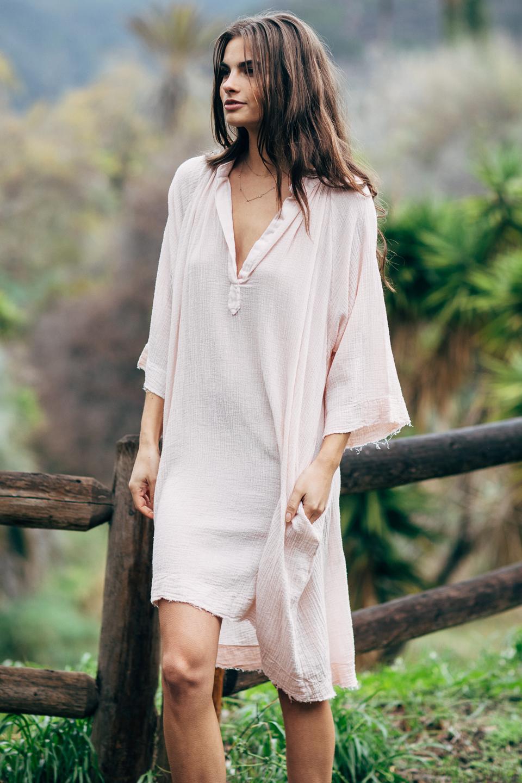 Goa long sleeve mid-length caftan