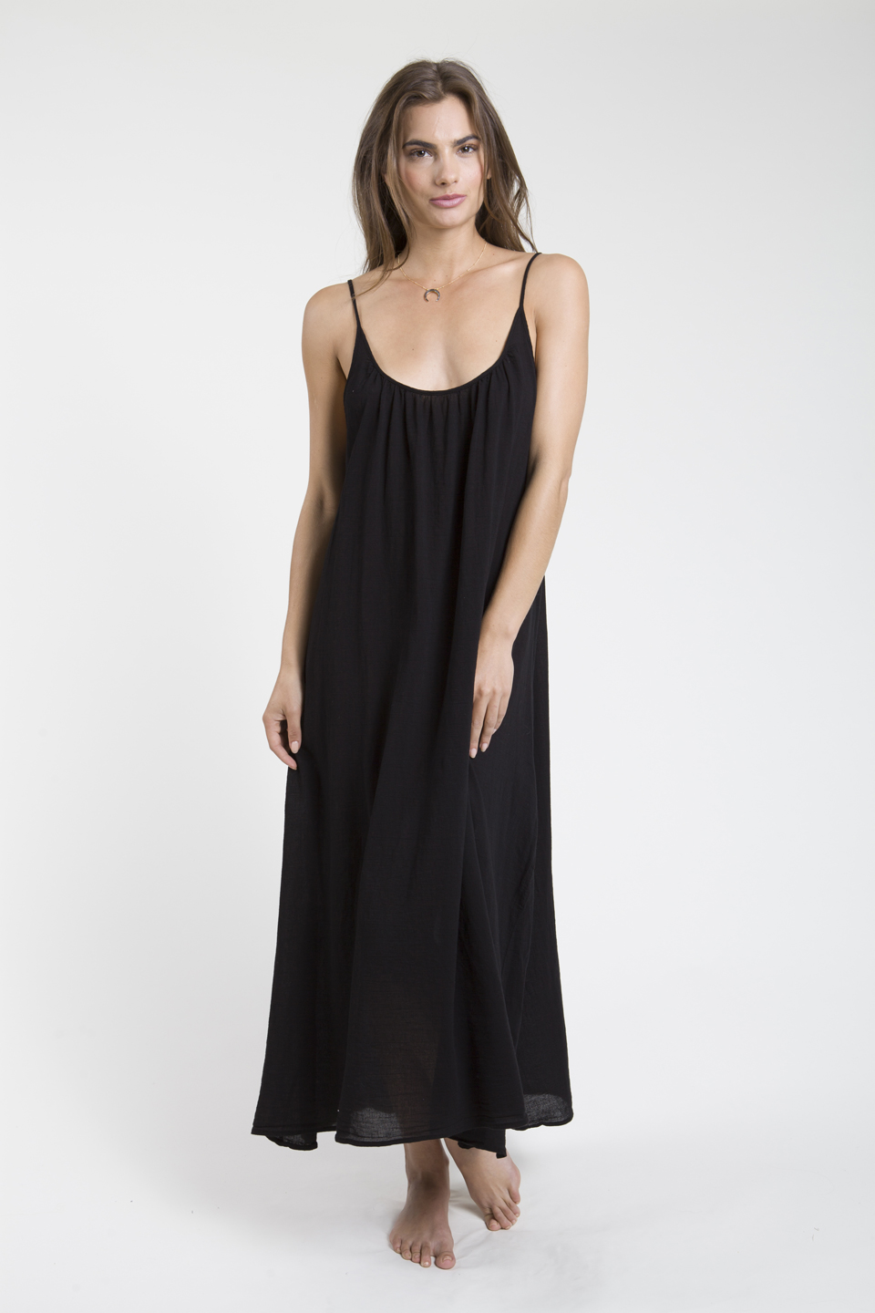 Tulum low back maxi - black