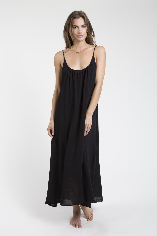 Tulum low back maxi - black