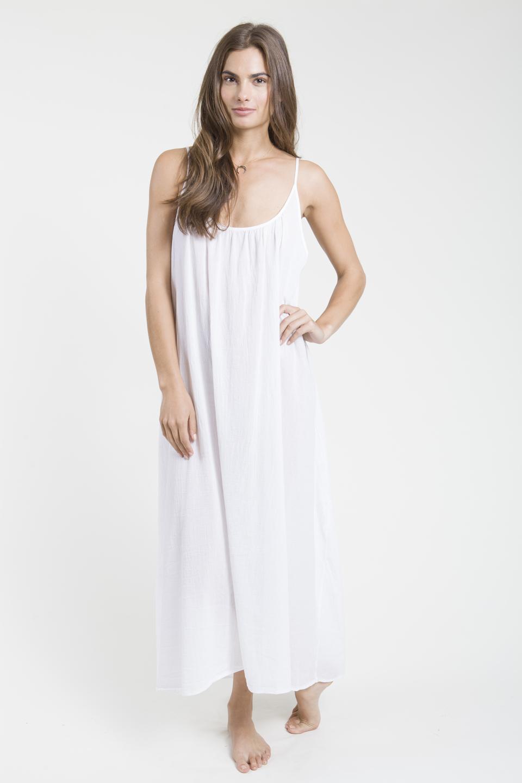 Tulum low back maxi - white