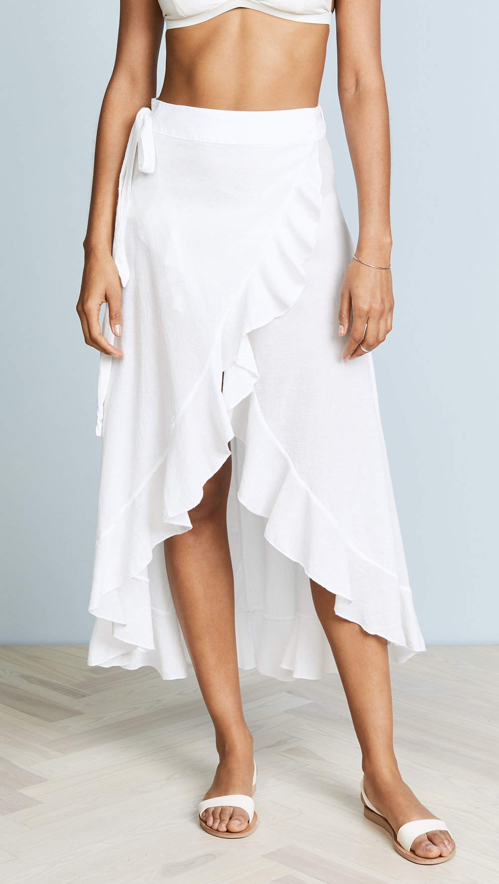 884404962f SOLANA wrap skirt - white — 9seed | Official Online Store