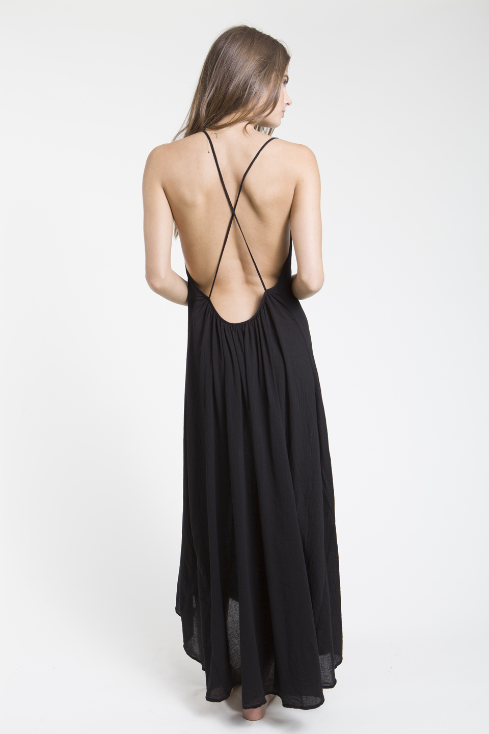 Seychelles cross back maxi - black