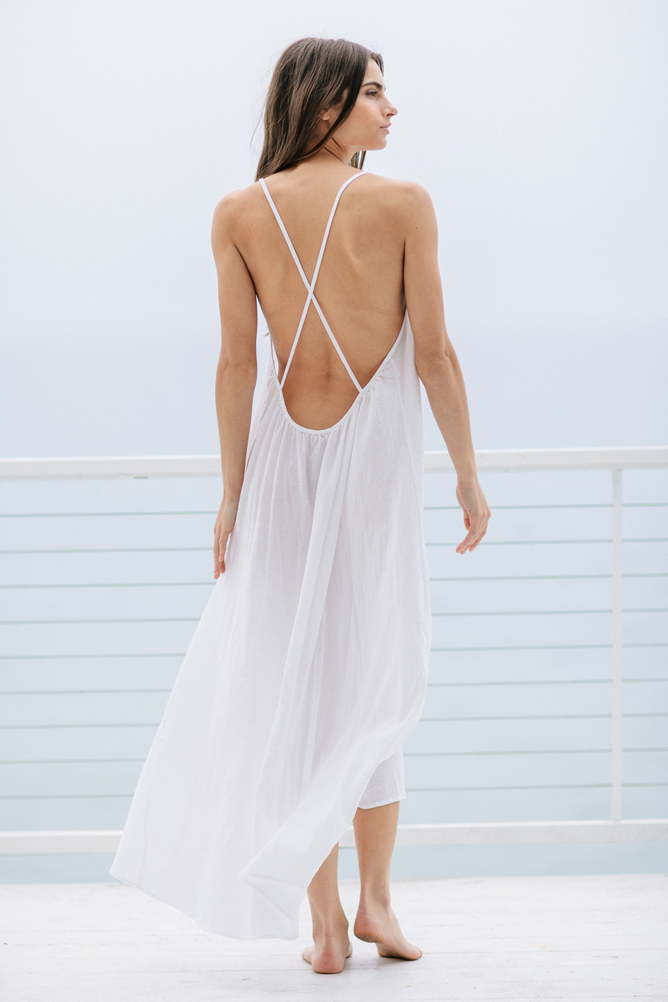Seychelles cross back maxi - white