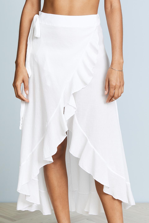 Solana wrap skirt - white