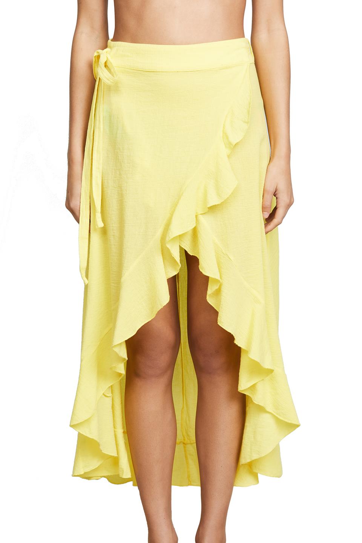 Solana wrap skirt - sunshine