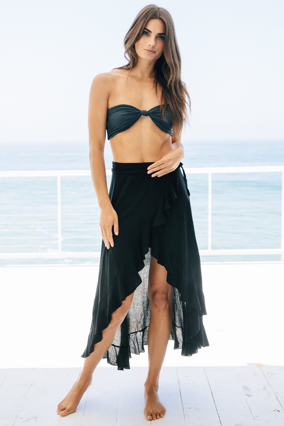 Solana wrap skirt - black