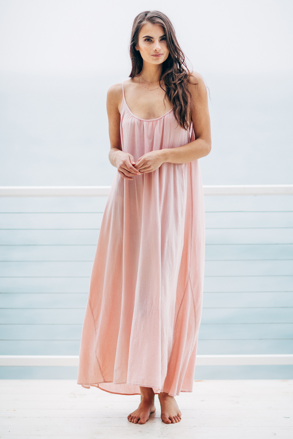 Tulum low back maxi - dusty rose