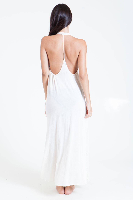 Antigua T-black maxi - white