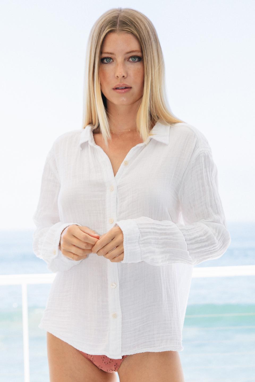 Windward button down shirt - white