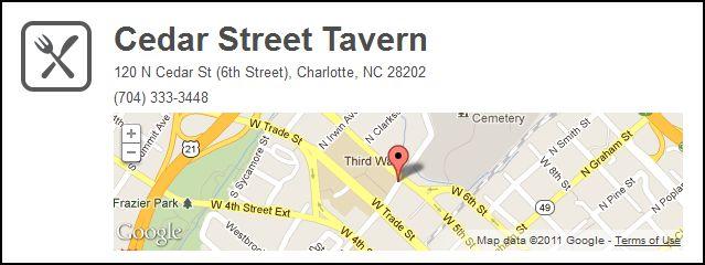 Cedar Street. FourSquare