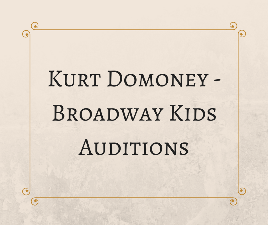 Kurt Domoney (Broadway Kids Auditions)