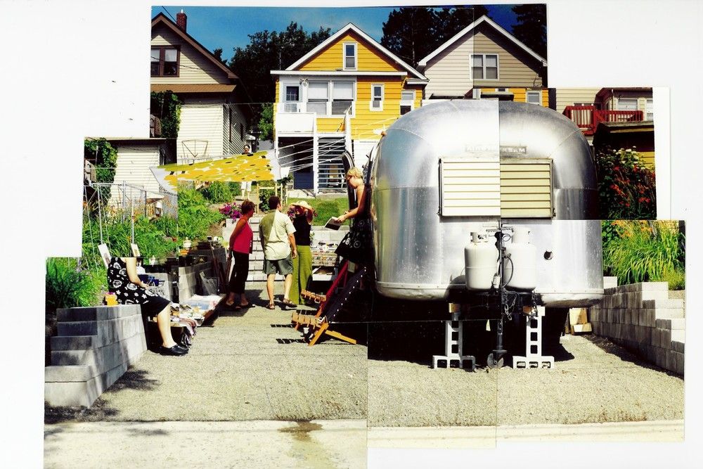 Silvercocoon started with an art sale in our 1966 Airstream camper in Duluth, MN in July 2001.