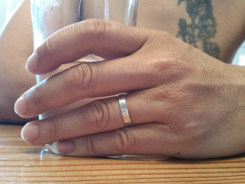 My first ring : a band for my husband