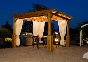 Outdoor Living  Pergolas, arbors, gazebos, are perfect for your outdoor living space.  We can install a complete outdoor cooking space!  Consider an estimate from Planet Plant It, Inc.