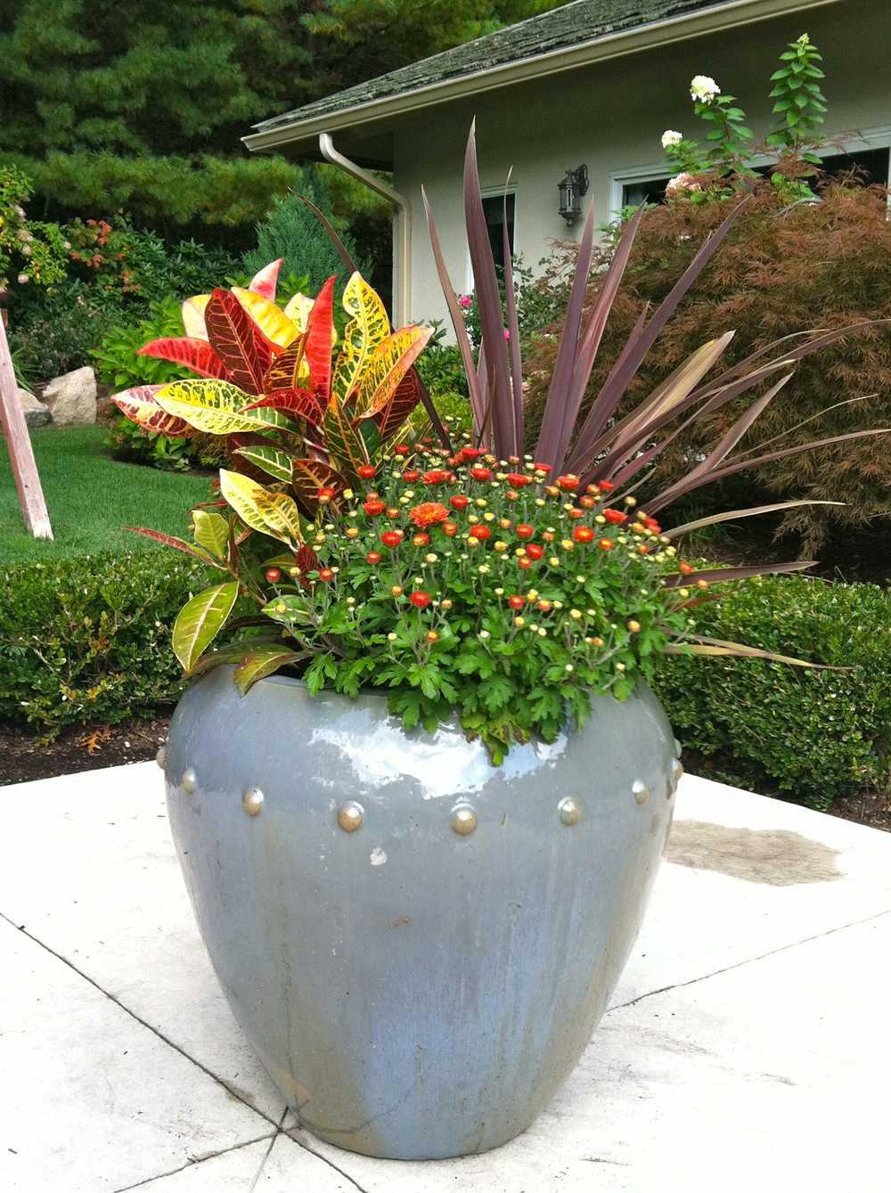 Change up Your planters to add seasonal color!