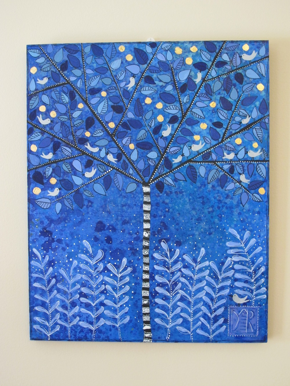 Blue Zebra Tree, 16x20""