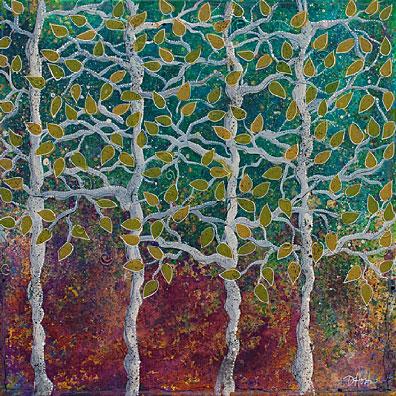 """Gentle Treetops, 24x24"""""""