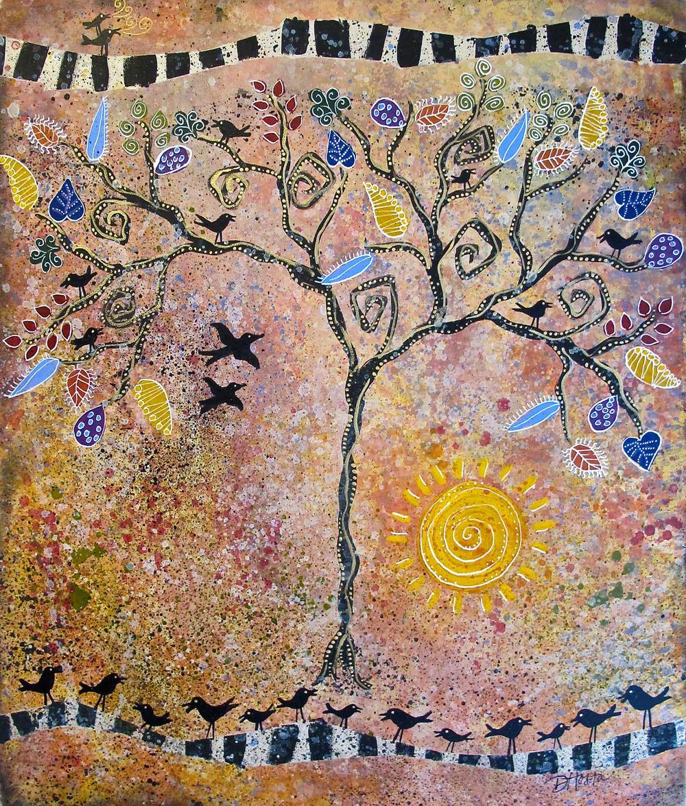 The Gathering Tree, 16x20""