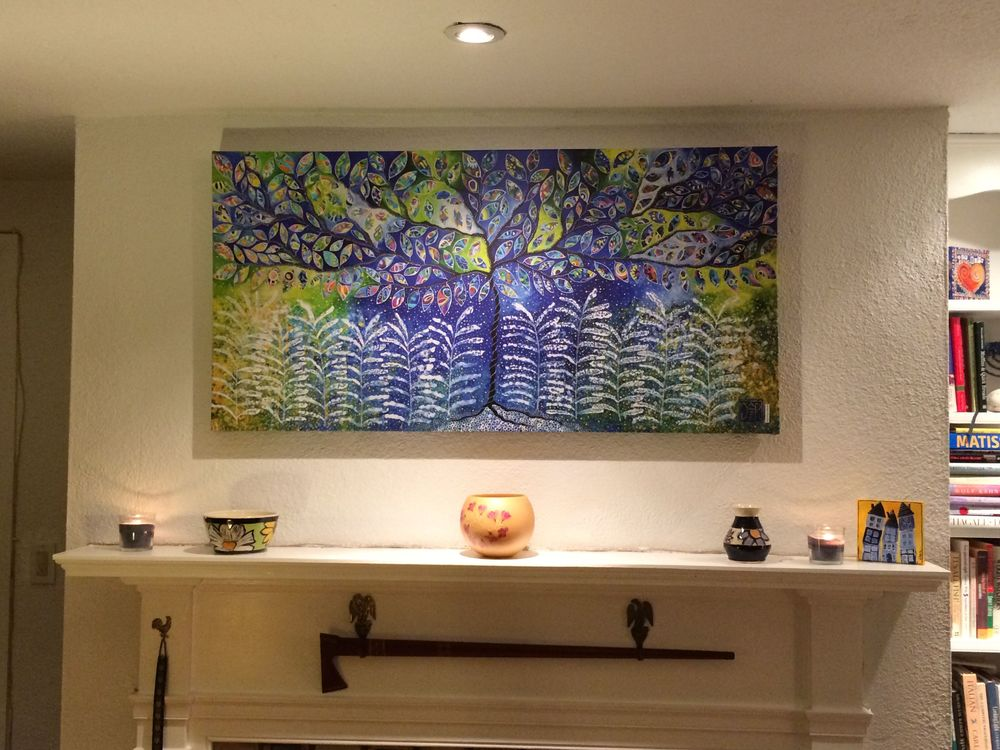 "CANVAS PRINTS... A beautiful alternative to original paintings. Above, ""Beginning To Discover,"" 24x48,"" Giclee on canvas."